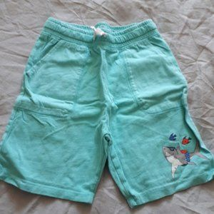 Jersey Cotton Shorts Turquoise Green Blue Shark